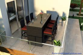 Patio Wicker Furniture - outdoor patio wicker furniture bar table dining set 6 bar stools