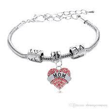 family bracelets family gift heart rhinestone