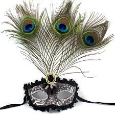 peacock mardi gras mask beautiful peacock feather masquerade mask multi color half
