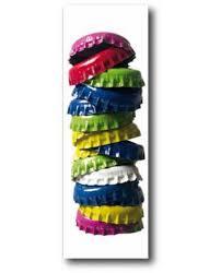 toile deco cuisine tableau déco cuisine des capsules aux couleurs acidulé pour un