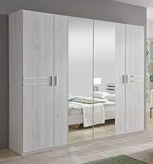 Oak Effect Bedroom Furniture Sets New Susan German White Oak Effect 4 Door Mirror Wardrobe Bedroom