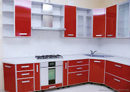Red Kitchen With White Cabinets Modern Two Tone Kitchen Cabinets 07 Kitchen Design Ideas Org
