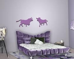 Schlafzimmer Lila Wanddeko Stier Mit Stier Für Ihr Schlafzimmer