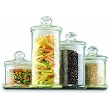 glass kitchen canister anchor hocking callista 4 glass canister set