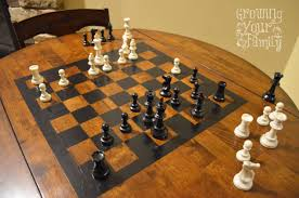 Chess Table Our Diy Chess Table Kids Educational Pinterest Chess Table