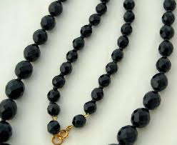crystal bead necklace jewelry images Jet black crystal bead necklace strand extra long sparkling jpg