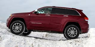 jeep grand cherokee all terrain tires off road in the snow with jeep