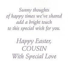 happy easter dear popular easter cards for dear cousin wishing you a happy