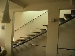 Modern Stairs Design Indoor Mesmerizing Grey Iron Column For Stright Style Modern Stairs With