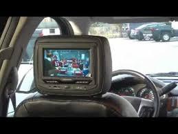 cadillac escalade dvd player gm chevrolet gmc cadillac headrest dvd system integrated through