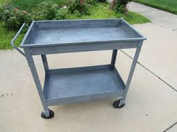 serving tray side table industrial metal cart bbq side table utility cart industrial