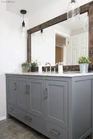 Framing Builder Grade Bathroom Mirror 1639 Best Bathroom Mirror Images On Pinterest Bathroom Ideas