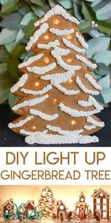 how to make a led light up gingerbread tree tikkido