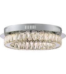 Quoizel Flush Mount Ceiling Light Quoizel Pcem1619c Platinum Embrace Led 18 Inch Polished Chrome