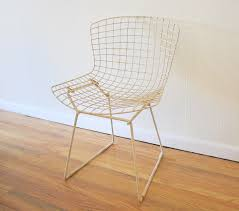 Bertoia Dining Chair Bertoia Wire Chairs For Knoll Picked Vintage