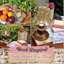 plan a genteel baby shower tea party with a book theme
