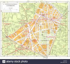 Luxembourg Map Paris 6e Arrondissement Luxembourg 1920 Vintage Map Stock Photo