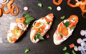 bruschetta with tomato and goat cheese recipe eatwell101