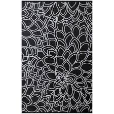 Black And White Outdoor Rug Outdoor Rug Recycled Plastic Black And White Floorsome
