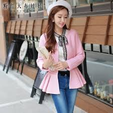 light pink wool coat original 2017 jacket women autumn new temperament fashion casual