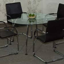 round office table and chairs round glass conference table with chairs set glass office table