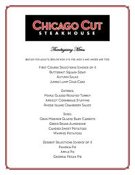 chicago cut steakhousejoin us for thanksgiving dinner chicago