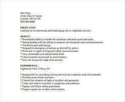 Resume Security Guard Sample Resume Template For Fresh Graduates Charles Dickens Hard