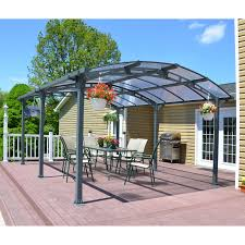 Outdoor Carport Canopy by Shelterlogic Arrow 12 X 20 Ft Carport Hayneedle