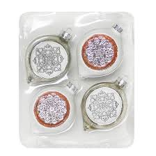 Glass Christmas Ornament Sets - 4ct snowflake glass christmas ornament set wondershop target