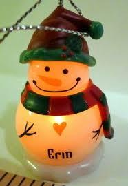 ganz snowman personalized name ornament