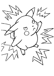pikachu and electricals sacs pokemon coloring page boys coloring
