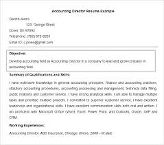 resume objective exles for accounting manager resume director of accounting resume easy resume objective art director