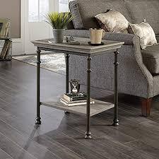 sauder carson forge coffee oak storage side table 420422 the