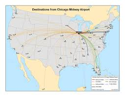 Chicago Midway Airport Map by South Side Chicago