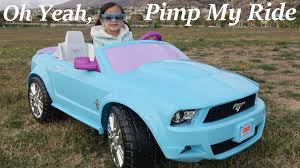 power wheels for girls test drive little driving a ford mustang ride on power