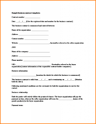 11 free contract templates letter template word