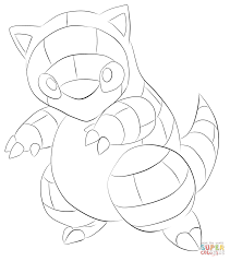 sandshrew coloring page free printable coloring pages