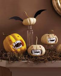 fanged pumpkins decoration craft and halloween ideas