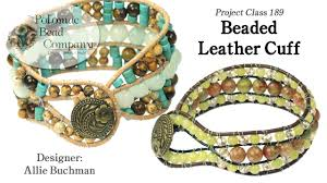 beaded cuff bracelet patterns images Beaded leather cuff tutorial jpg