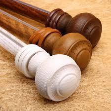 bastoni per tende in legno prezzi testa di legno bastoni per tende romano tende binario singolo e