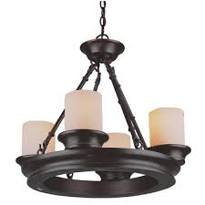 Dining Room Light Fixtures Lowes by Allen Roth 3364 4 Light Bronze Chandelier Lowes Canada Within