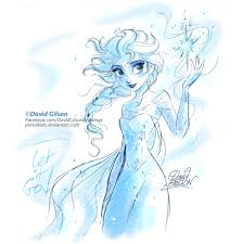 elsa disney u0027s frozen sketch princekido deviantart