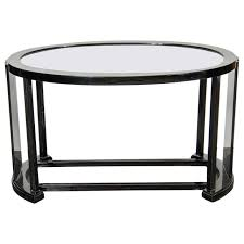 modern cocktail tables art deco bauhaus style cocktail or occasional table in black