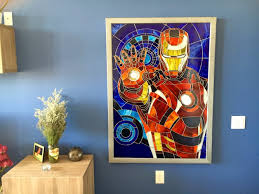 artstation stained glass picture on wall