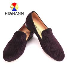 Handmade Shoes Usa - new arrival usa brand handmade wine velvet shoes with