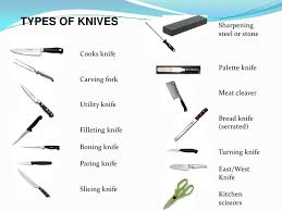 types of knives kitchen knife skills
