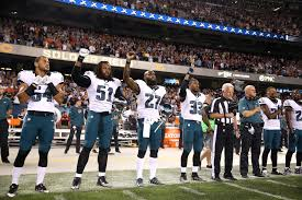 Flag Football Chicago Eagles Players Protest During National Anthem At Soldier Field