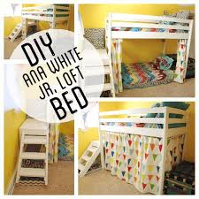 Double Twin Loft Bed Plans by Diy Kids Loft Bunk Bed With Stairs Junior Loft Beds Lofts And