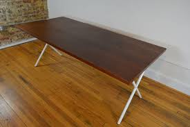 x leg dining table george nelson for herman miller walnut x leg dining table
