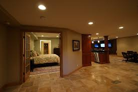 Finished Basement Contractors by Decor U0026 Tips Basement Renovations With Shelving And Wall Art Also